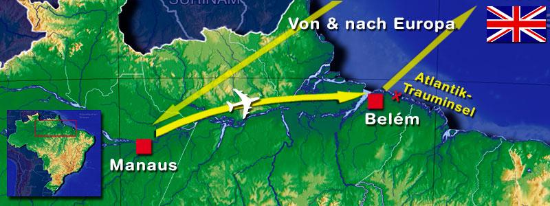 Amazonas Reise Karte