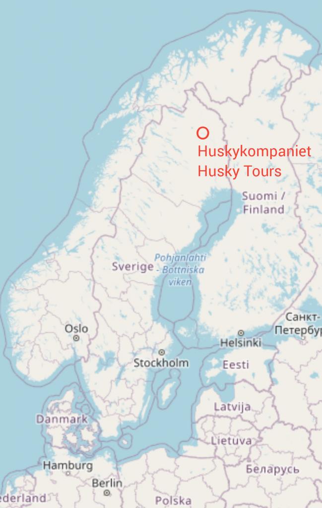 Karte Husky Tours